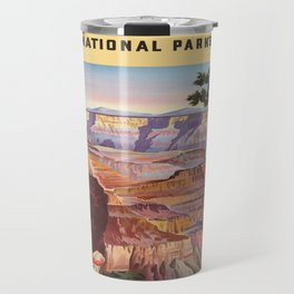 Vintage poster - Grand Canyon Travel Mug