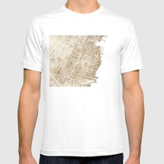 Hoboken New Jersey city map White MEDIUM Mens Fitted Tee