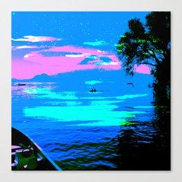 Canoes on Lake Atítlan, Guatemala Canvas Print