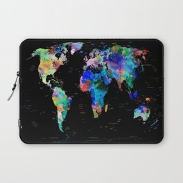 world map political watercolor Laptop Sleeve