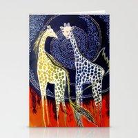 giraffes Stationery Cards featuring Giraffes by Ša Rūnė