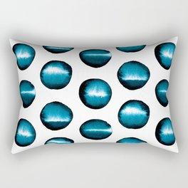 Divine teal dots Rectangular Pillow