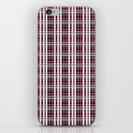 Pink and gray plaid iPhone Skin