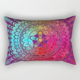 Mandala Flower Wheel Rectangular Pillow