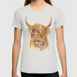 Highland Cow Watercolor T-shirt