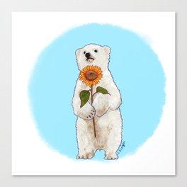 Romantic Bear Cub Canvas Print