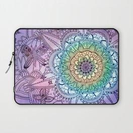 Purple Butterfly Mandala Laptop Sleeve