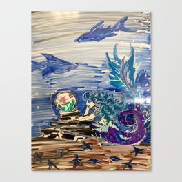 Dreaming Mermaid Canvas Print