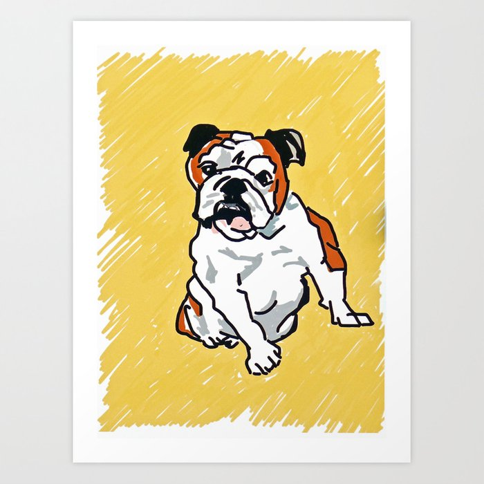 Bulldog Portrait Kunstdrucke
