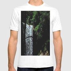 Cucumber Falls Mens Fitted Tee MEDIUM White