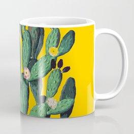 Yellow Flored-Cactus Coffee Mug
