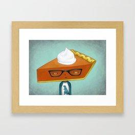 Pie Curious - Pumpkin Pie Framed Art Print