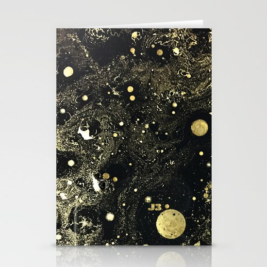 Cosmic Gold Stationery Cards