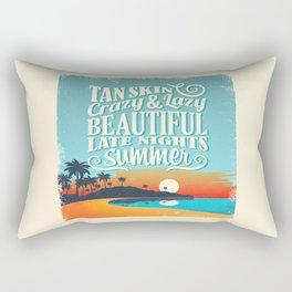 Crazy & lazy Summer Rectangular Pillow