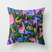 jungle Throw Pillows featuring Jungle by Truly Juel