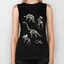 Dinosaur Fossils on Black Biker Tank