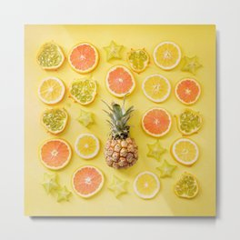 Citrus Party Metal Print