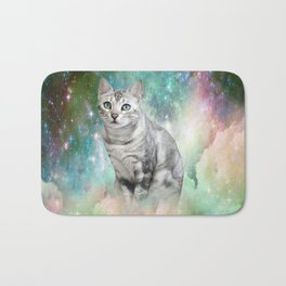 Purrsia Kitty Cat in the Emerald Nebula of Innocence Bath Mat