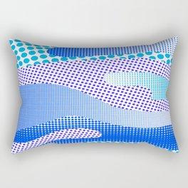 Halftone Sea Blue Rectangular Pillow