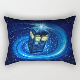 Tardis Blue Vortex Rectangular Pillow