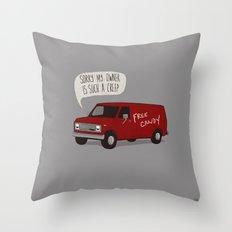 Creeper Van Throw Pillow