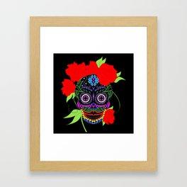Rosa Adela calavera skull ecopop Framed Art Print