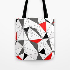 Geo - red, gray, white and black Tote Bag