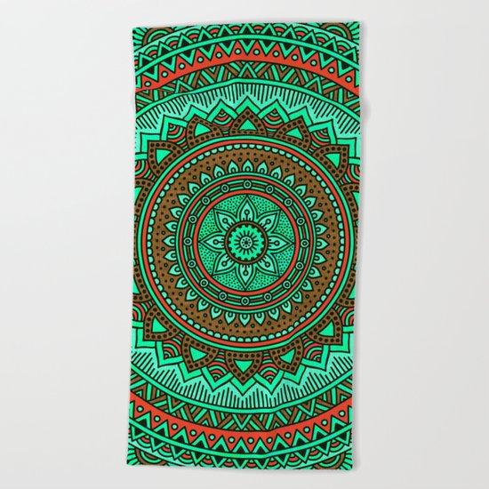 Hippie mandala 87 Beach Towel