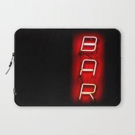 Retro Bar Sign with neon light on dark background Laptop Sleeve