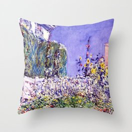 Classical Masterpiece Dexter's Garden by Frederick Childe Hassam Throw Pillow