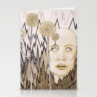anxiety Stationery Cards featuring Anxiety by Gabi Pezoa