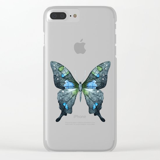 Butterfly 02 Clear iPhone Case