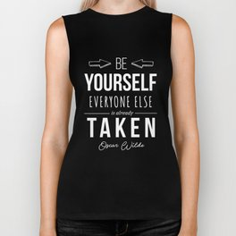 Oscar Wilde Inspirational Quote Biker Tank