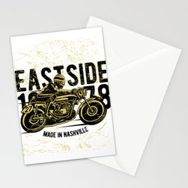 Moto Racer Raisin Hell On The East Side Stationery Cards