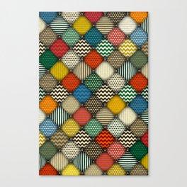 buttoned patches retro Canvas Print