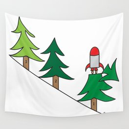3, 2,1 Blast Off Wall Tapestry