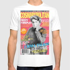 COSMARXPOLITAN, Issue 16 MEDIUM Mens Fitted Tee White