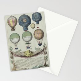 HOT AIR Balloons 1783 Stationery Cards