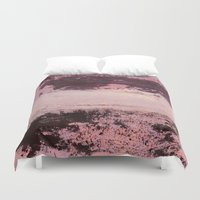 burgundy Duvet Covers featuring burgundy rose by patternization