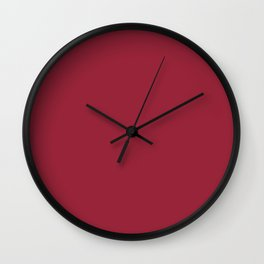 Jester Red Pantone fashion color trend Spring/Summer 2019 Wall Clock
