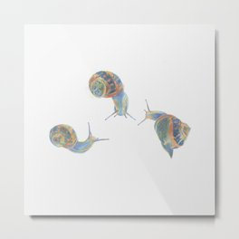 Snail Triplets Metal Print