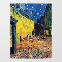 Vincent Van Gogh - Café Terrace at Night (new color editing) Poster