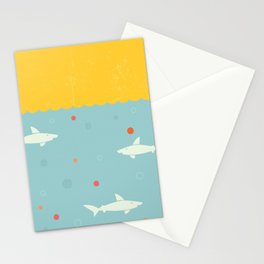 School of Sharks Stationery Cards