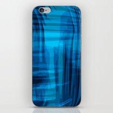 Blue wrinkles iPhone & iPod Skin