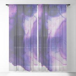 Violet Aura Sheer Curtain
