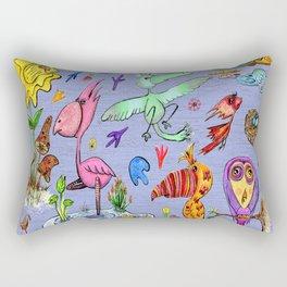 Birds and flowers Rectangular Pillow