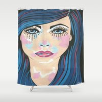 indigo Shower Curtains featuring Indigo by Sartoris ART