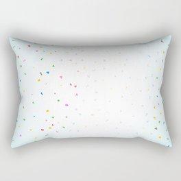 Confetti Falling Rectangular Pillow