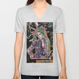 Rehab Amy Graffiti in New York City Unisex V-Neck