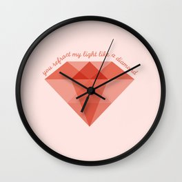 Refract My Light  Wall Clock